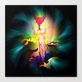 Heavenly appearance angel Canvas Print