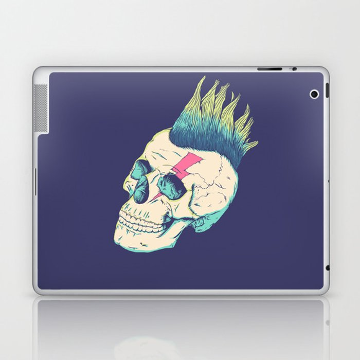 Skull Punk Laptop & iPad Skin