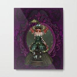 Lady Carnivale Metal Print