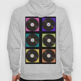 Retro Color Block Vinyl Records Hoody