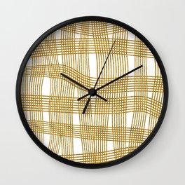 Gold Glitter Cross Hatch Wall Clock