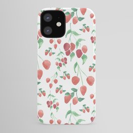 Watercolor Strawberries iPhone Case