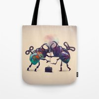 fight Tote Bags featuring Fight by Tanya_tk