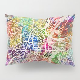Belfast Northern Ireland City Map Pillow Sham