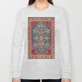 N131 - Heritage Oriental Vintage Traditional Moroccan Style Design Long Sleeve T-shirt