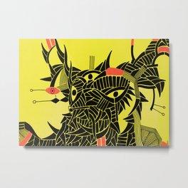 - down - Metal Print