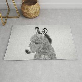 Donkey - Black & White Rug