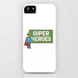 Funny Disguise Tshirt Design Teachers iPhone Case