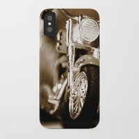 motorbike iPhone & iPod Cases featuring Motorbike-Sepia by Yar's Photography