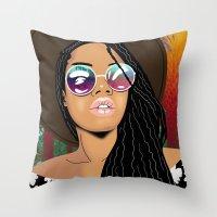 coachella Throw Pillows featuring Coachella Chic by Mark Baker-Sanchez