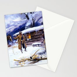"""""""Christmas Meat"""" by Charles M Russell Stationery Cards"""