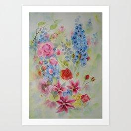 SUMMER BORDURE Art Print