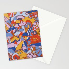 Magical Mushroom World in Mod Rust Stationery Cards