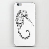 sea horse iPhone & iPod Skins featuring Sea horse by Ilya kutoboy