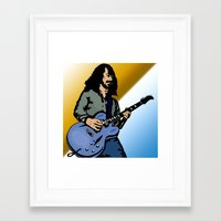 dave matthews Framed Art Prints featuring Dave by Kramcox