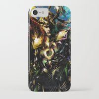 loki iPhone & iPod Cases featuring Loki by Vincent Vernacatola