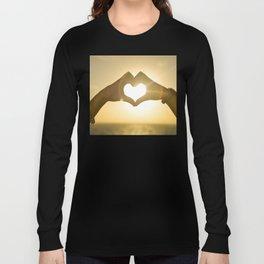 Hand Heart into the Sunset Long Sleeve T-shirt