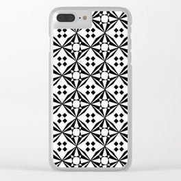 optical pattern 61 Clear iPhone Case