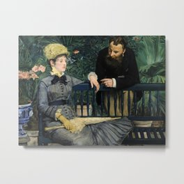 Edouard Manet - In the Conservatory Metal Print