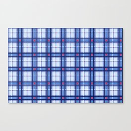 Blue Plaid Canvas Print