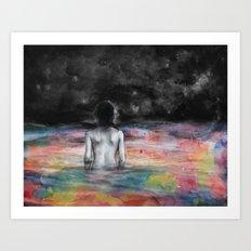 Verso l'infinito Art Print
