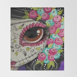 Day Of The Dead Girl Throw Blanket