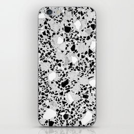 Real Terrazzo Stone Marble Concrete Mix Pattern iPhone Skin