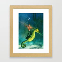 King of the Sea Superfriend Framed Art Print