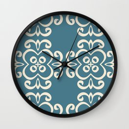 Modern design ornament with fashion beautiful patterns in vintage style Wall Clock