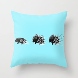 Crested Porcupine Throw Pillow