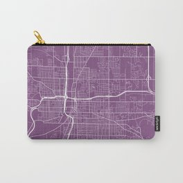 Grand Rapids Map, USA - Purple Carry-All Pouch