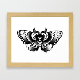 ouija moth Framed Art Print