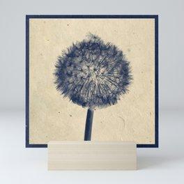 Wishing for a little breeze - Dandelion silhouette Mini Art Print