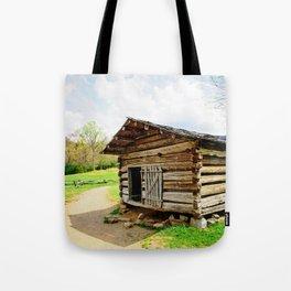 Historic Log Cabin Tote Bag
