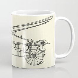 Extension Fire Ladder and Truck-1895 Coffee Mug