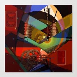 Like as Jule Verne - Humans future clock Canvas Print
