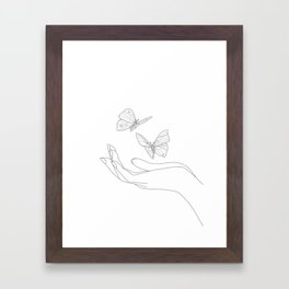 Butterflies on the Palm of the Hand Framed Art Print