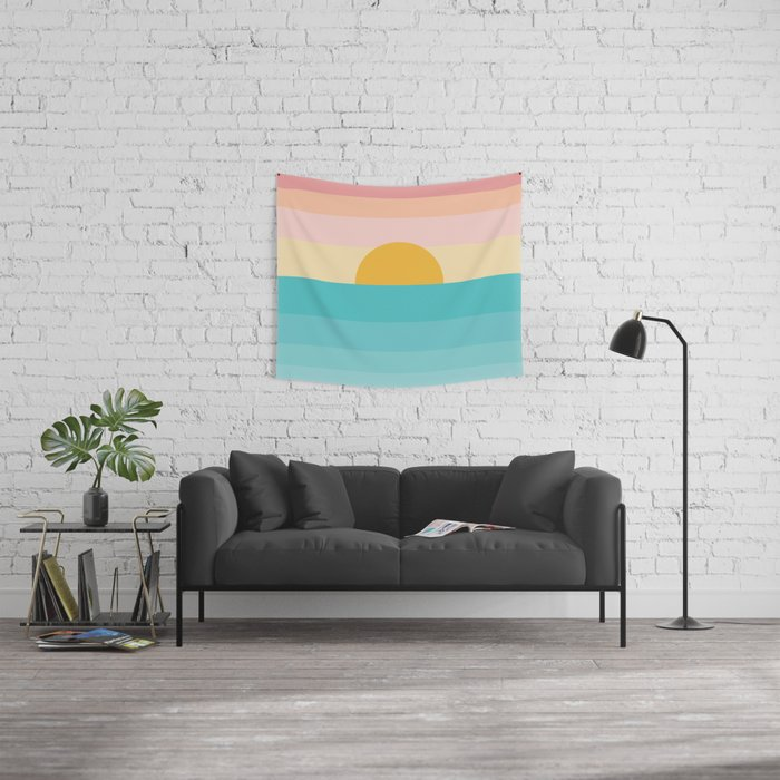 sunrise /sunset Wall Tapestry