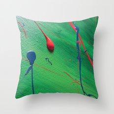 Green Acryl Pattern Throw Pillow