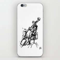 Playing the contrabass iPhone & iPod Skin