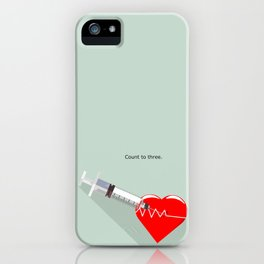Shot to the heart - Pulp fiction Overdose Needle Scene needle for injection  iPhone Case