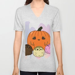 Penguinscoops - Pumpkin Unisex V-Neck