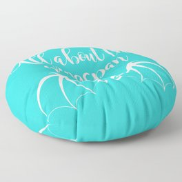 All About the Wingspan blue design Floor Pillow