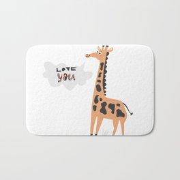 Love Giraffe Bath Mat