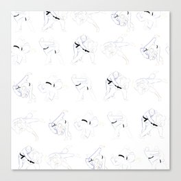 Judo Throw Pattern Canvas Print