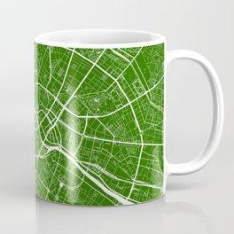 Berlin, Germany, City Map - Green Coffee Mug