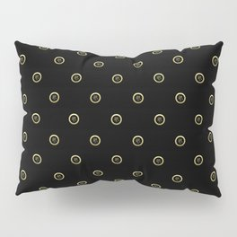 """Luck"" Chinese Calligraphy on Golden Coins Pillow Sham"