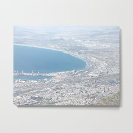 Cape Town from Table Mountain Metal Print