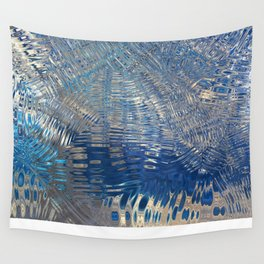 freeze glass with trees Wall Tapestry
