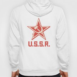 star, crossed hammer and sickle - ussr poster (socialism propaganda) Hoody